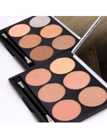 6 Colors Concealer Palette Facial Corrective Makeup Contour Highlighter Base Corrector