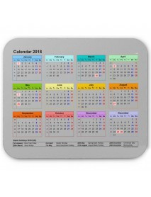 2018 Calendar Anti-Slip Desktop Mouse Pad