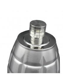 KCASA 64oz Landmine 3 KG 304 Stainless Steel Hip Flask Metal Alcohol Bottles Leather Holsters Flask