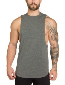 Men Sleeveless Muscle Fit Gym Tops