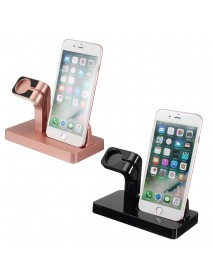 2 in 1 Charging Dock Stand Station Charger Holder for Apple Watch iWatch iPhone
