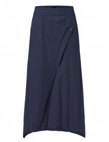 S-5XL Women Cotton Elastic Waist Side Pockets Irregular Interlaced Skirts
