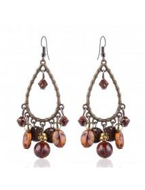 Bohemian Tassels Drop Earrings Long Style Turquoise Earring Retro Women Ear Drop