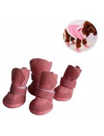 1 Set 4pcs Pet Winter Warm Shoes Boots Puppy Cotton Blend Winter Snow Warm Walking Boots Fancy Dress up Winter Puppy Cats Warm Boots