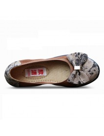Bowknot Slip On Casual Round Toe Flats Loafers