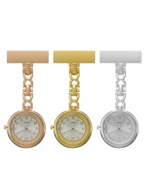 Casual Style Crystal Vintage Pocket Watch Stainless Steel Medical Womens Nurse Watch