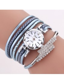 DUOYA D257 Shining Crystal Women Bracelet Watch Flower Dial Case Tourist Quartz Watch