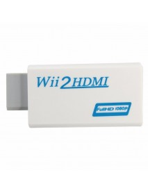 Wii to HD Output Upscaling Converter with 3.5mm Audio Adapter 1080P