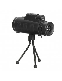 40x60 Waterproof Portable Monocular Telescope High Definition HD Travel with Compass