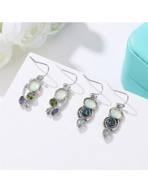 Bohemian Rotating Crystal Earring Long Style Rhinestone Ear Drop Earring For Women Jewelry