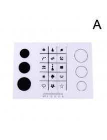 1pc Washable Nail Art Tips Practice Silicone Mat Pad Printing Coloring Polish Stamping Tool