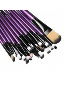 20pcs Powder Foundation Eyeshadow Eyeliner Lip Brush Makeup Brushes Kit