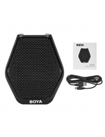 BOYA BY-MC2 Super-cardioid Condenser Conference Microphone with 3.5mm Audio Jack 5V USB Interface