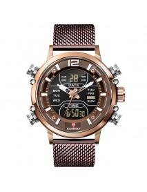 KADEMAN K9071 Sport Men Digital Watch 3ATM Waterproof Week Luminous Display Dual Display Watch