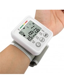 English Broadcast LCD Blood Pressure Monitor Intellisense Voice Digital Wrist Sphygmomanometer