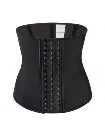 Rubber Front Buckle Waist Trainer Postpartum Recover Bodysuit