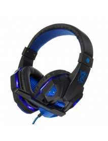 3.5mm LED Light Gaming Headset Stereo Noise Cancelling Headphone With Mic for E-sports