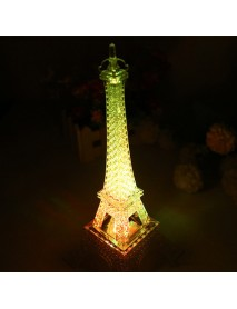 25.5cm Led Colors Changing Eiffel Tower Night Light Romantic Decorative Lights Decor Gift