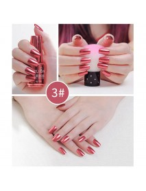12 Colors Mirror Metal Nail Gel Polish Nail Gel Soak-off UV Gel DIY Nail Art  Long-Lasting