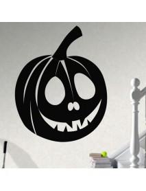Creative Halloween Pumpkin Innovative Carved Wall Sticker Waterproof  Vinyl Art Decorative Stickers