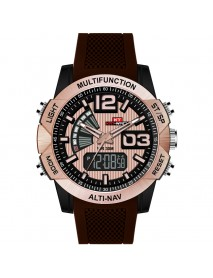KAT-WACH KT718 Dual Display Digital Watch Chronograph Waterproof Silicone Strap Men Sport Watch
