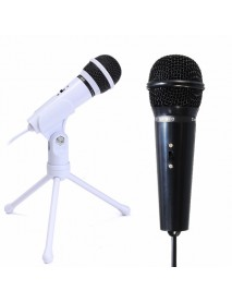 3.5mm Condenser Microphone Mic Recording Stand For PC Laptop Desktop YY Skype