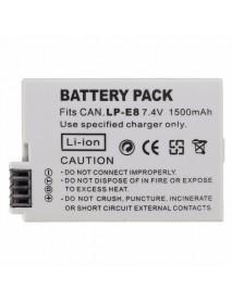 LP-E8 7.4V 1500mAh Rechargeable Camera Battery Pack for Canon 550D 600D 650D 700D