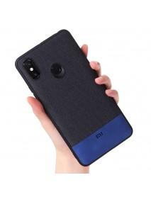 Bakeey Luxury Fabric Splice Soft Edge Shockproof Protective Case For Xiaomi Mi Max 3