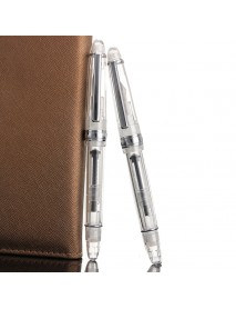 0.38mm/0.5mm Iridium Fine Nib Transparent Fountain Pen With Box Smooth Writting Office School Supply
