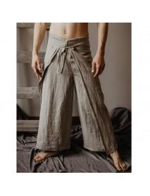 Casual Loose Multi-functional Fisherman Pants Strap Trousers