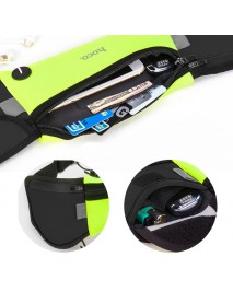 HOCO Sport Large Capacity Waterproof Reflective Stripes Competition Marathon Waist Bag