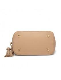 2 PCS Women Shoulder Hollow Bag PU Leather Solid Crossbody Bag
