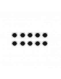 10Pcs Black 24mm Push Button for Arcade Game Console Controller DIY