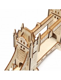 3D Jigsaw London Tower Bridge Woodcraft Assembly Handicraft Home Decor DIY Model Puzzle IQ Challenger