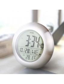Emate Bathroom Waterproof Temparture Sensor Electronic Digital Clock With Sucker And Bracket