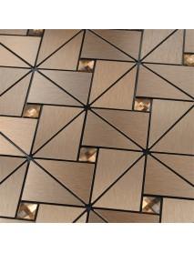 30x30cm Aluminum Tile Self Adhesive Wall paper Kitchen Backsplash Sticker Decor