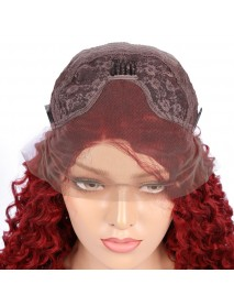 African Black High Temperature Silk Small Curler Wig