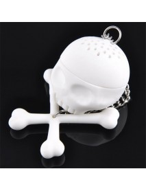 Cool Food-safe Silicone T-Bones Bones Skull Infuser Loose Leaf Tea Strainer Filter Infuser Diffuser