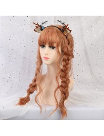 22 Synthetic Hair Women Wigs Long Curly with Bangs Wig Orange