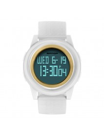 SANDA 337 Digital Watch LED Waterproof PU Leather Sports Student Watch