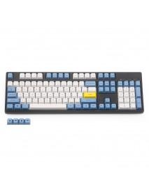 108 Key Blue White Dye-sub PBT Keycaps Keycap Set for Mechanical Keyboard