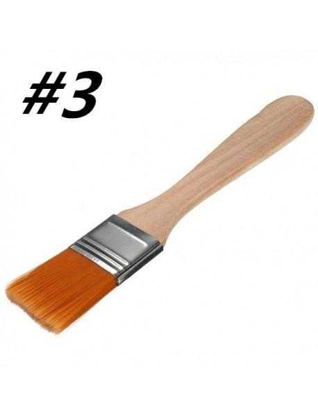 #3 Nylon Painting Brush Artists Acrylic Oil Paint Varnish Tool Art Supply