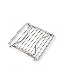 BBQ Grill Stainless Steel Grill Rack Barbecue Grill Portable Folding Mini Pocket BBQ Grill Barbecue Accessories
