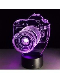 Digital Camera 3D LED Lights Colorful Touch Night Light Christmas Gift