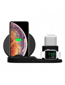 3 In 1 Qi Wireless Charger Phone Charger/Watch Charger/Earphone Charger For Smart Phone