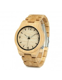 BOBO BIRD WD27 Bamboo Wooden Watch Unique Design Men Quartz Wrist Watch