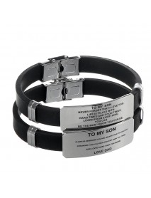 English Lettering Bracelet To My Son Family Love Stainless Steel Lettering Adjustable Bracelet