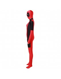 Cool Lady Costume Lycra Adult Women Red Fullbody Cosplay Birthday Suit