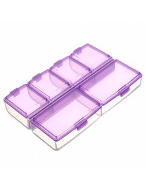 Empty Compartment Storage Case Box Nail Tip Rhinestones Gems Little Stuff Electronic Parts