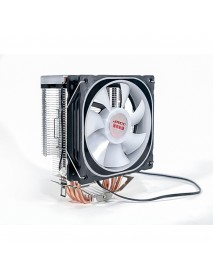 12CM 1300RPM 4 Copper Tube RGB Color Change CPU Cooling Fan Intelligent Speed Regulation